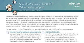 Virtual Patient Support for Specialty Pharmacies Checklist