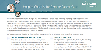 Remote Patient Care Technology Solutions for the New Normal
